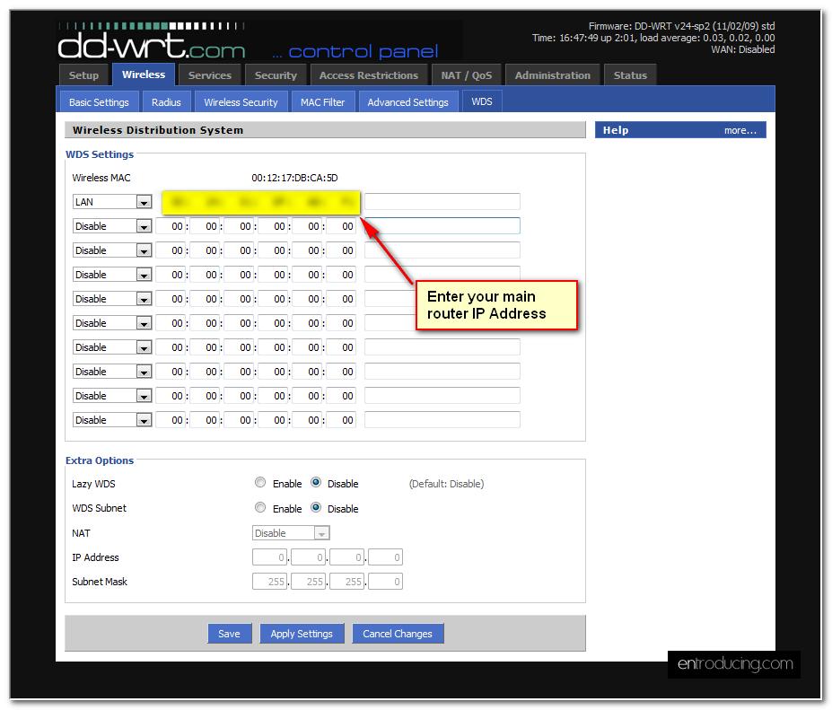 extend wireless network: Part 2 – extend with linksys (DD-WRT