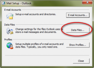how to create an offline folder in outlook